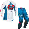 Fly Racing 2020 Kinetic K220 Youth Motocross Jersey & Pants Blue White Red Kit Thumbnail 1