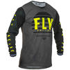 Fly Racing 2020 Kinetic K220 Youth Motocross Jersey & Pants Black Grey Hi-Vis Kit Thumbnail 4