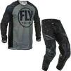 Fly Racing 2020 Evolution Motocross Jersey & Pants Black Grey Kit Thumbnail 1
