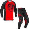 Fly Racing 2020 Evolution Motocross Jersey & Pants Red Black Kit Thumbnail 1