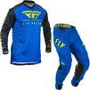 Fly Racing 2020 Lite Hydrogen Motocross Jersey & Pants Blue Black Hi-Vis Kit Thumbnail 2