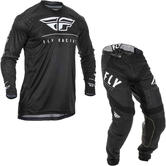 Fly Racing 2020 Lite Hydrogen Motocross Jersey & Pants Black White Kit