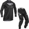 Fly Racing 2020 Lite Hydrogen Motocross Jersey & Pants Black White Kit Thumbnail 1