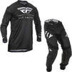 Fly Racing 2020 Lite Hydrogen Motocross Jersey & Pants Black White Kit Thumbnail 3