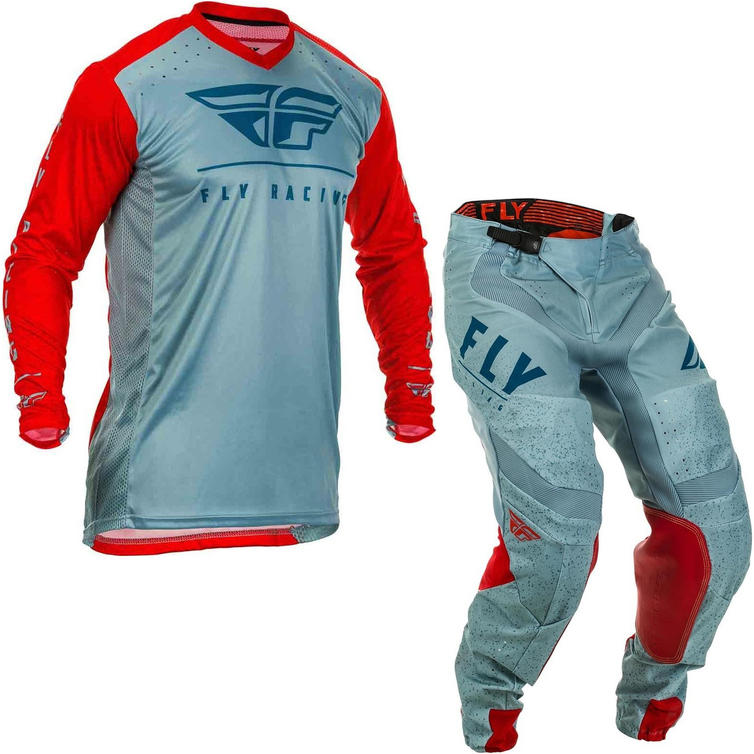 Fly Racing 2020 Lite Hydrogen Motocross Jersey & Pants Red Slate Navy Kit