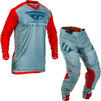 Fly Racing 2020 Lite Hydrogen Motocross Jersey & Pants Red Slate Navy Kit Thumbnail 1
