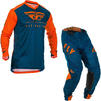 Fly Racing 2020 Lite Hydrogen Motocross Jersey & Pants Orange Navy Kit Thumbnail 1