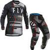 Fly Racing 2020 Lite Glitch Motocross Jersey & Pants Black Red Blue Kit Thumbnail 2