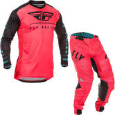 Fly Racing 2020 Lite Hydrogen Monster Energy Cup SE Motocross Jersey & Pants Coral Black Blue Kit