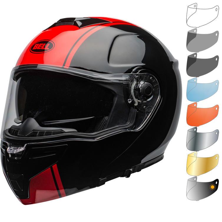 Bell SRT Modular Ribbon Flip Front Motorcycle Helmet & Visor