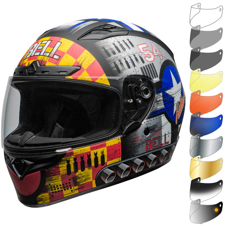 Bell Qualifier DLX MIPS Devil May Care Motorcycle Helmet & Visor