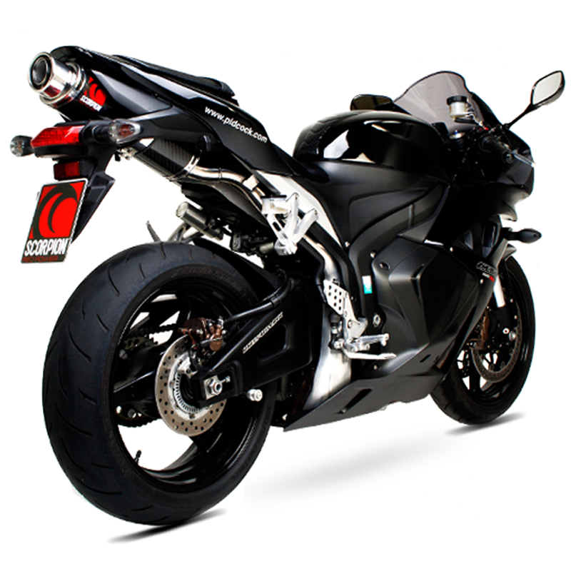 Details about Honda CBR 600 RR 2007 - 2012 Scorpion Red Power Stealth  Carbon Oval Bike Exhaust
