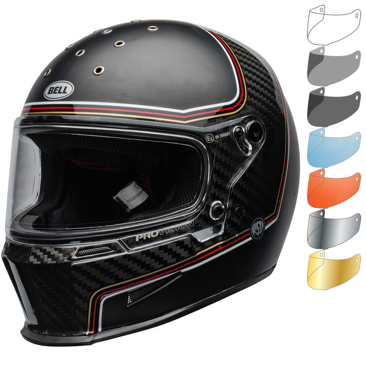 Bell Eliminator Carbon RSD The Charge Motorcycle Helmet & Visor