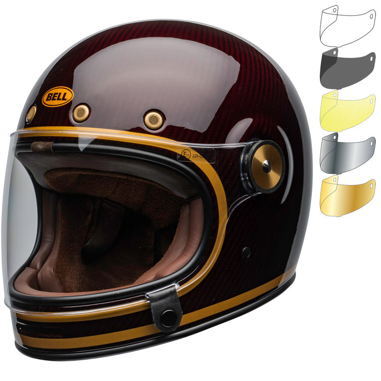 Bell Bullitt Carbon Transcend Motorcycle Helmet & Visor