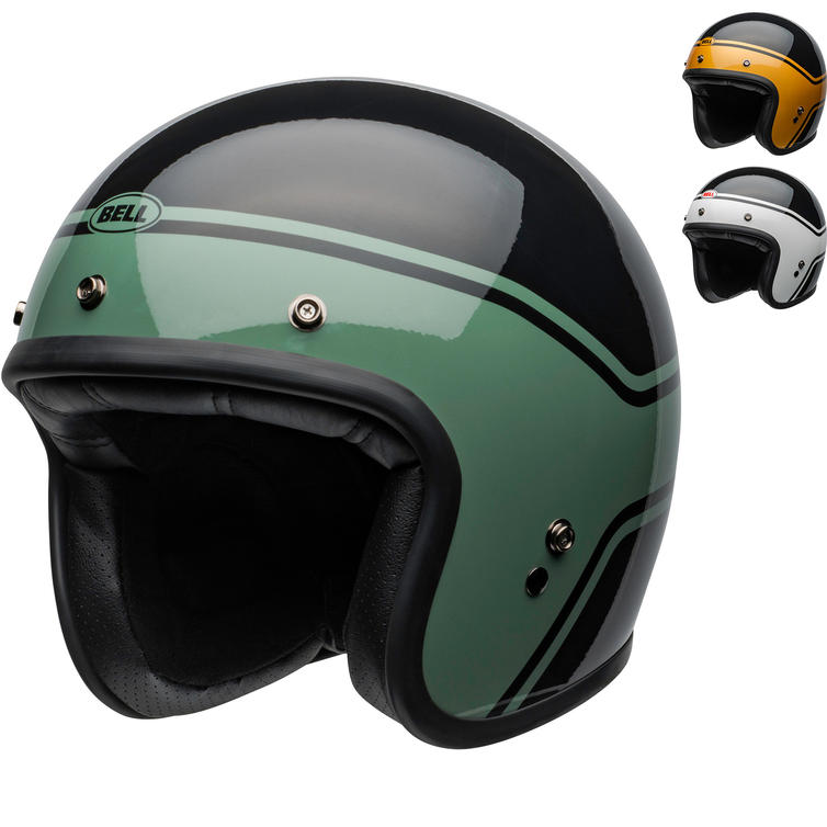 Bell Custom 500 DLX Streak Open Face Motorcycle Helmet