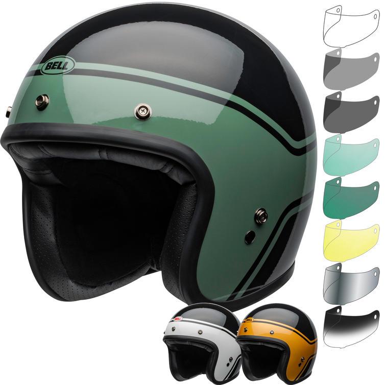 Bell Custom 500 DLX Streak Open Face Motorcycle Helmet & Visor