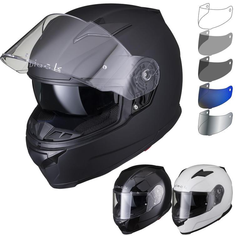 Black Apex Full Face Motorcycle Helmet & Visor