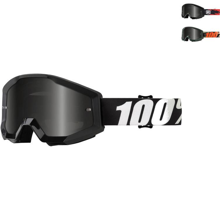100% Strata Sand Smoke Motocross Goggles