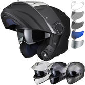 Black Optimus II Flip Front Solid Motorcycle Helmet & Visor