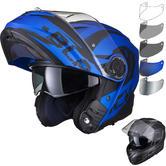 Black Optimus II Destination Flip Front Motorcycle Helmet & Visor Kit