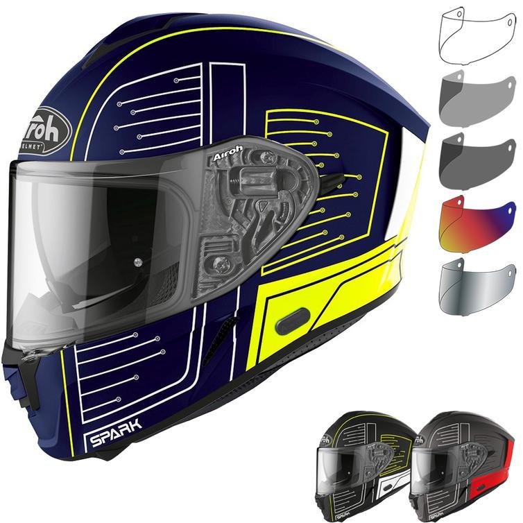 Airoh Spark Cyrcuit Motorcycle Helmet & Visor