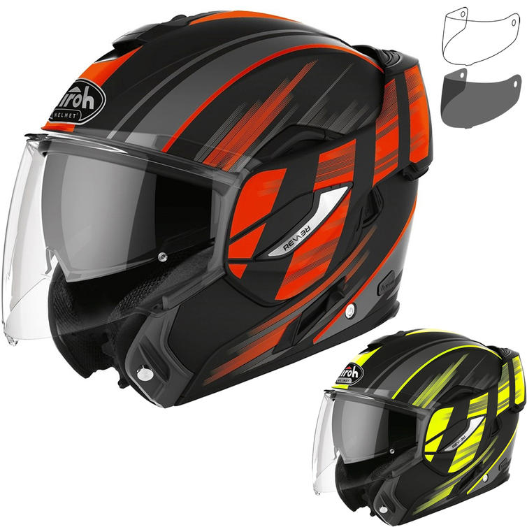 Airoh Rev 19 Ikon Flip Front Motorcycle Helmet & Visor