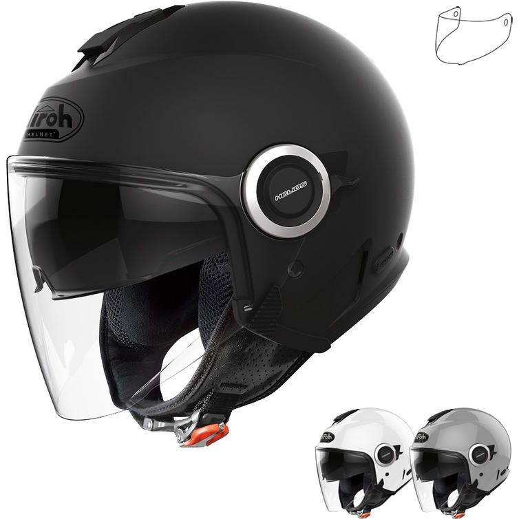 Airoh Helios Color Open Face Motorcycle Helmet & Visor