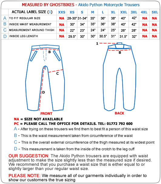 Akito Python Motorcycle Trousers - Trousers - Ghostbikes.com