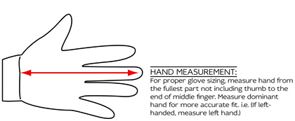 EVS Gloves Measuring Guide