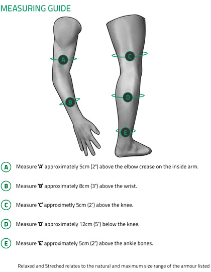 Knox Limb Armour Measuring Guide