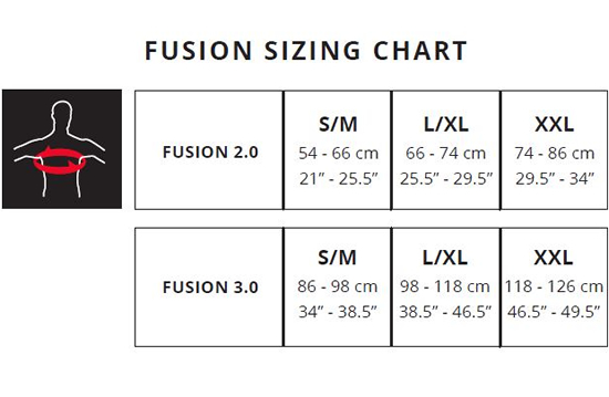 Leatt Armour Top Sizing Guides