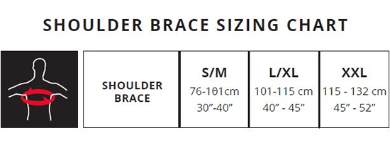 Leatt Shoulder Brace Sizing Guide