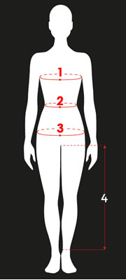 Richa Ladies' Torso Measuring Guide
