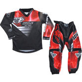 Wulf Forte Cub Kids Motocross Jersey & Pants Red Kit