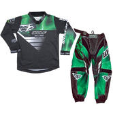 Wulf Forte Cub Kids Motocross Jersey & Pants Green Kit