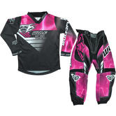 Wulf Forte Cub Kids Motocross Jersey & Pants Pink Kit