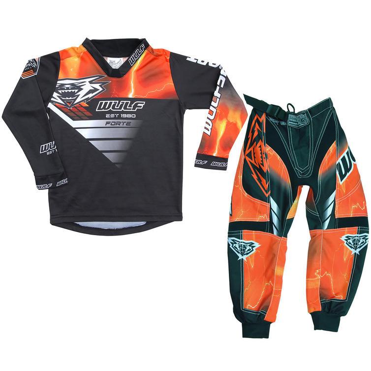 Wulf Forte Cub Kids Motocross Jersey & Pants Orange Kit