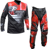 Wulf Forte Adult Motocross Jersey & Pants Red Kit