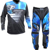 Wulf Forte Adult Motocross Jersey & Pants Blue Kit