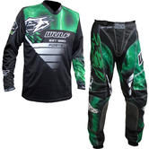 Wulf Forte Adult Motocross Jersey & Pants Green Kit