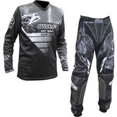 Wulf Forte Adult Motocross Jersey & Pants Grey Kit