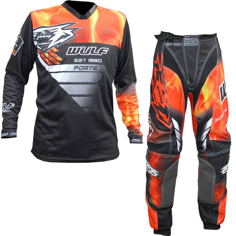 Wulf Forte Adult Motocross Jersey & Pants Orange Kit