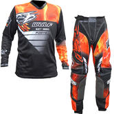 Wulf Forte Adult Motocross Jersey & Pants Orange Kit