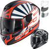 Shark D-Skwal 2 Zarco Replica Motorcycle Helmet & Visor Thumbnail 1