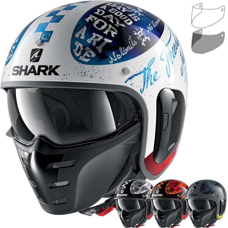 Shark S-Drak 2 Tripp In Open Face Motorcycle Helmet & Visor