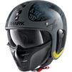 Shark S-Drak 2 Tripp In Open Face Motorcycle Helmet & Visor Thumbnail 5