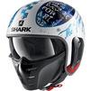 Shark S-Drak 2 Tripp In Open Face Motorcycle Helmet & Visor Thumbnail 4