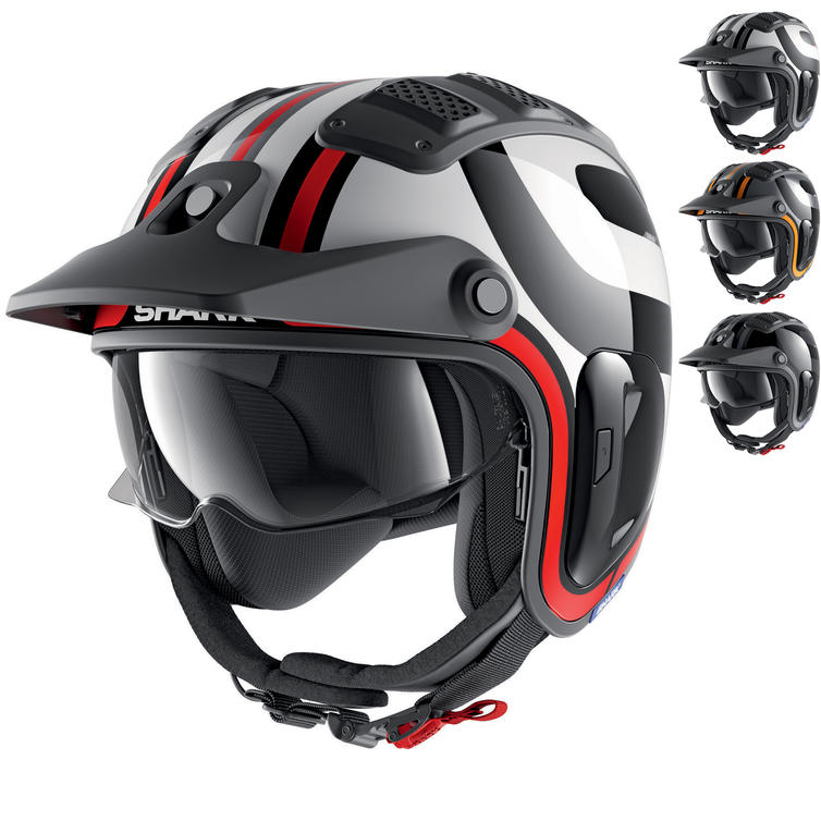 Shark X-Drak 2 Thrust R Open Face Motorcycle Helmet