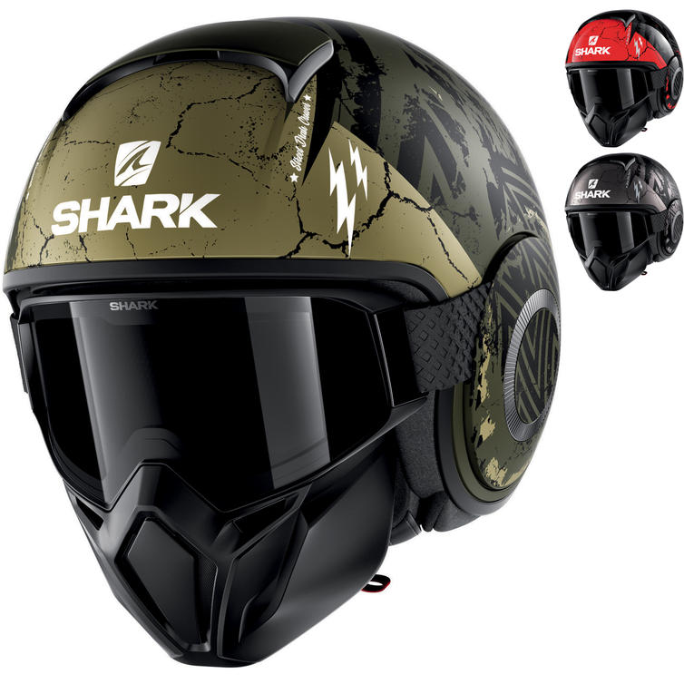 Shark Street-Drak Crower Open Face Motorcycle Helmet