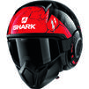 Shark Street-Drak Crower Open Face Motorcycle Helmet Thumbnail 4